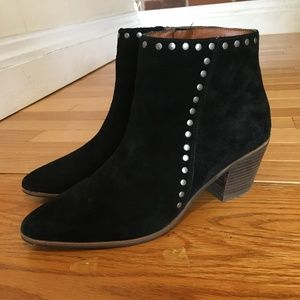 Lucky Brand Women's Black Suede Ankle Boots Size 9